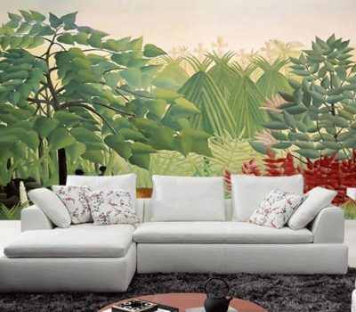 Free-Shipping-Custom-wall-painting-wallpaper-bedroom-living-room-sitting-room-jungle-forest-wallpaper-mural-
